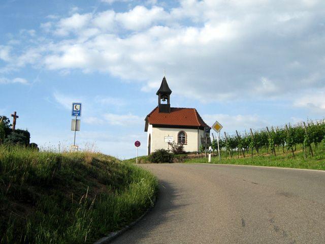 Die letzten steilen Meter zur Brandstetter Kapelle.