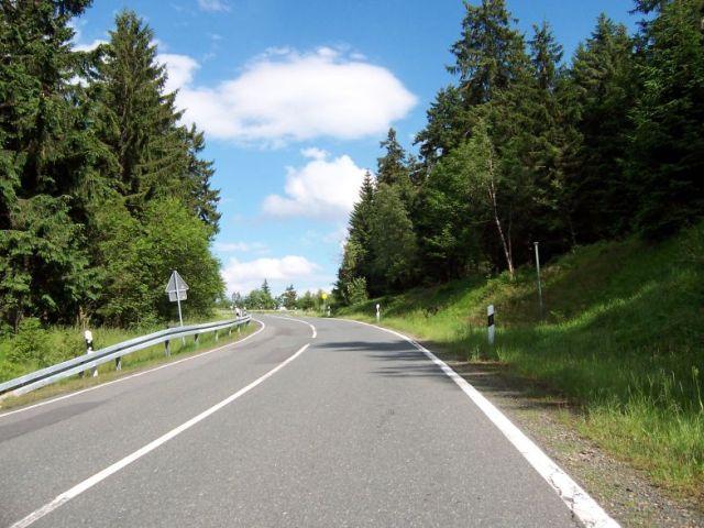 Anstieg von Altenau zum Torfhaus.