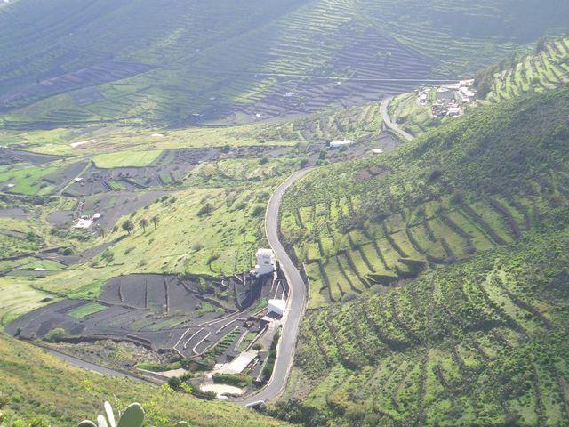 Tabayesco-Tal, grüne Terrassen wie in Asien.