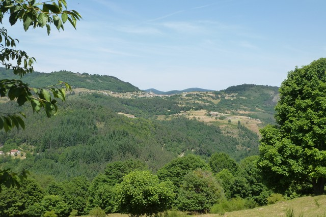 Nordrampe Col de Freydaparet Blick von Malleval zur�ck nach Rochepaule