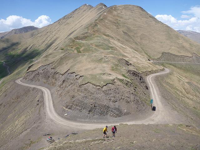 Datvisjvarisghele mit Blick auf den Kistanistavi (3047 m)