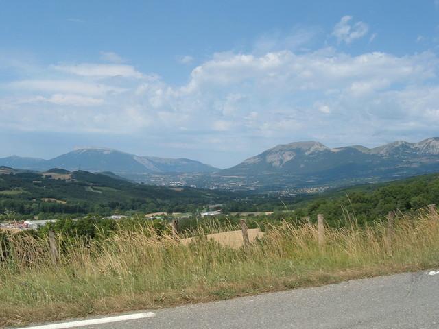 Aussicht auf das umliegende Bergland