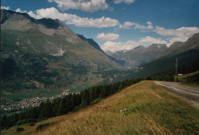 Blick von der Nordrampe des Col du Mont Cenis in Richtung Col de l'Iseran.Florian Platzek