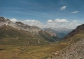 Die Sicht vom Stilfser Joch zur�ck zum Umbrailpass.Bernd Roesich