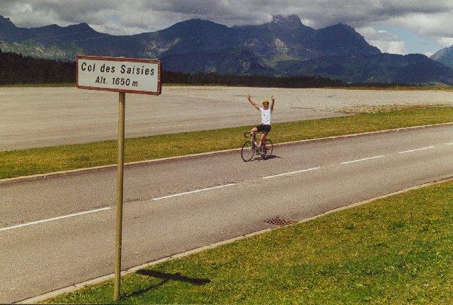 Jan erreicht den Col des SaisiesSommertour 2000