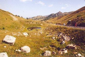 Sicht vom Col de Vars nach NordenSommertour 2000