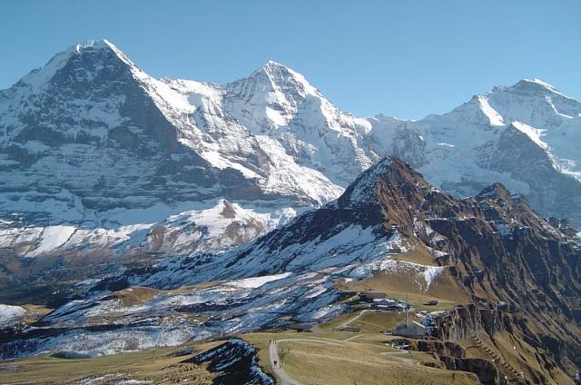 Tolle Aussicht vom Gipfel des Männlichen.