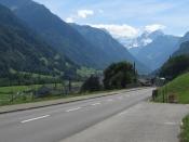 Radtour am 15.08.2006 von Glarus zum Klausenpass, von dort �ber Altdorf und Brunnen nach Zug. Hier: Fahrt von Glarus nach Linthal