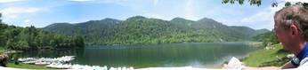 Rundumblick über den Lac Wildenstein am Startpunkt zum Col de Bramont.