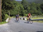 Anfahrt zum Col de Garavel.Tag 1 Sommertour Pyrenäen 2002