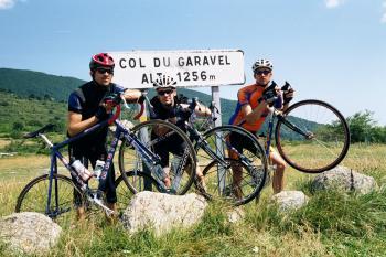 Passfoto am Col de Garavel.Tag 1 Sommertour Pyrenäen 2002