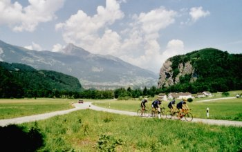 Auf geht's von Vaduz in Richtung Luzisteig.Sommertour 2001