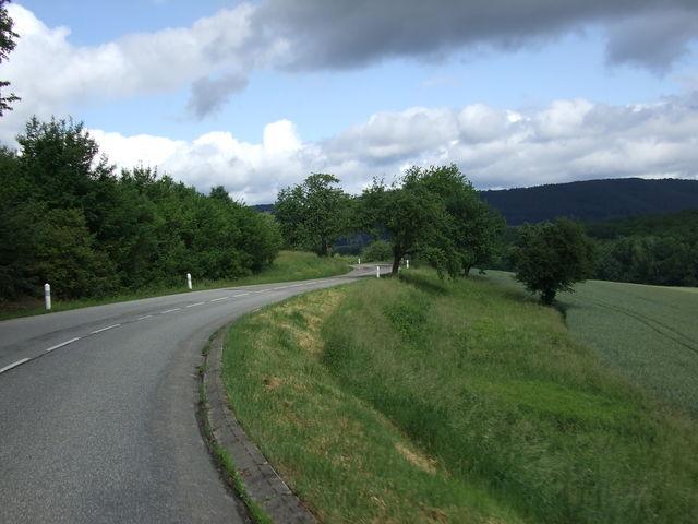 Landschaft auf der Westanfahrt.