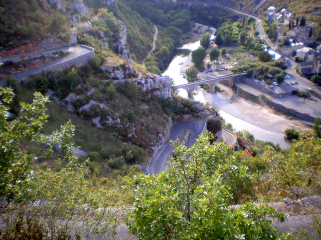 Blick auf La Malène .