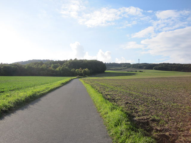 Ruhige Straße in der Septembersonne.