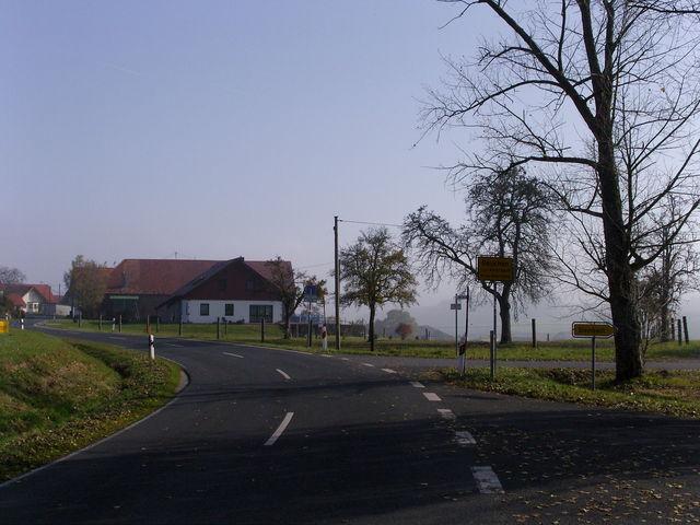 Endpunkt Beuchen am Abzweig nach Steinbach