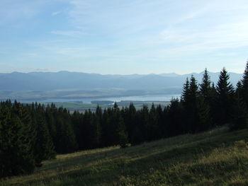 Blick vom Holica sedlo auf den Liptovsky See