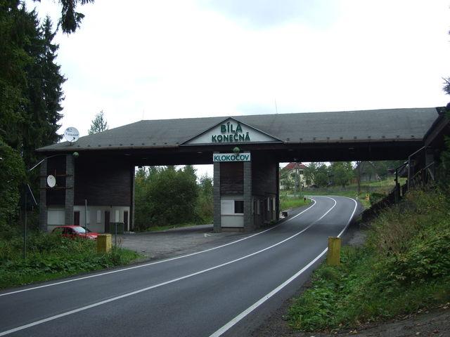Konecna, tschechisch- slowakische Grenze