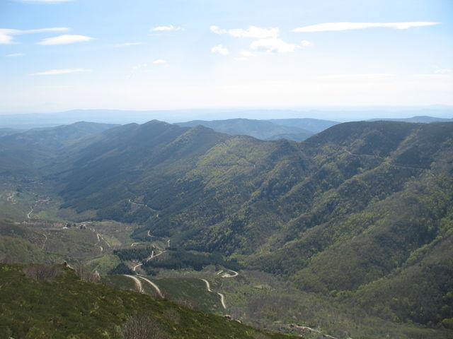 Der Mont Ventoux zur Linken am Aussichtspunkt