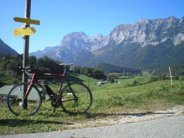 Blick von der B305 Richtung Wagendrischlhorn (Reiteralpe, Nationalpark Berchtesgaden)