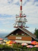 Die Spitze des Pf�nders, 52 m oberhalb des Waldparkplatzes.