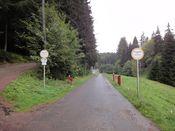 Beginn Forstweg hinter Fischbach.
