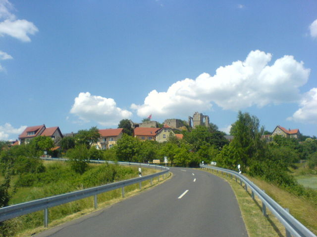 Ein schöner Blick auf die Burgruine und Altenstein