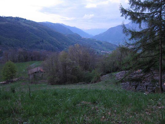 Passo del Colle Gallo, Blick nach Nordost kurz vor Erreichend er Passhöhe.