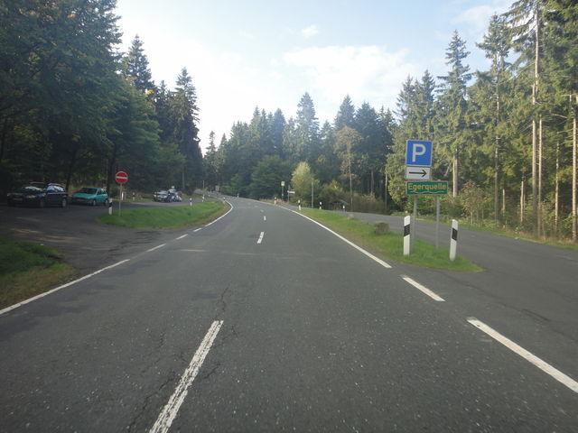 Parkplatz bei der Egerquelle