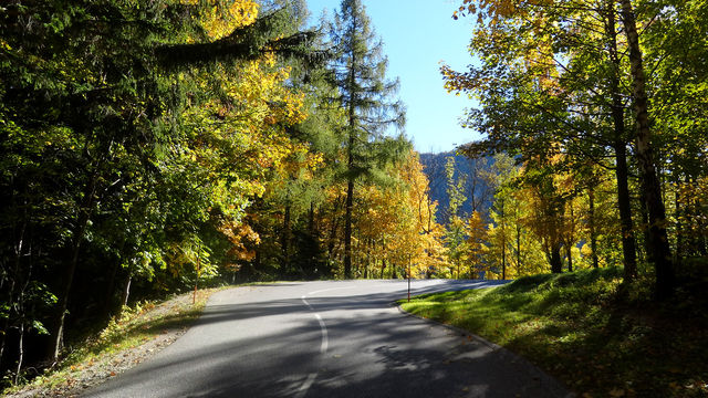 Auffahrt von Reichenau/Rax.