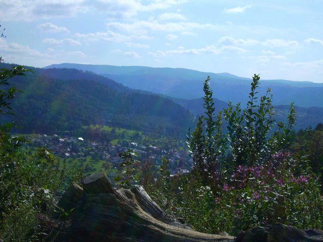 - Blick vom Käppele Richtung Loffenau. Weiter hinten erahnt man das Murgtal.