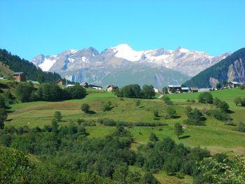Aussicht von der D80: Pic de l'Etendard und Glacier de St. Sorlin.