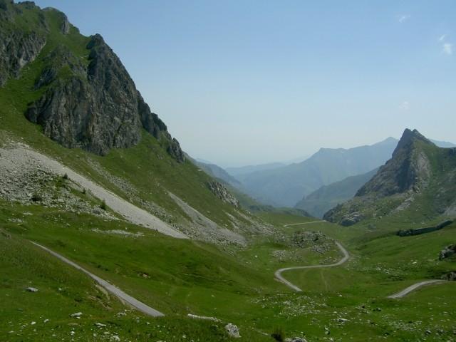 Ein kurzer Blick in Richtung Ostrampe ins Valgrana