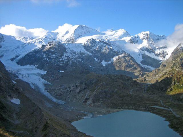 malerisches, vergletschertes Gwächtenhorn (3402m), 23.9.08