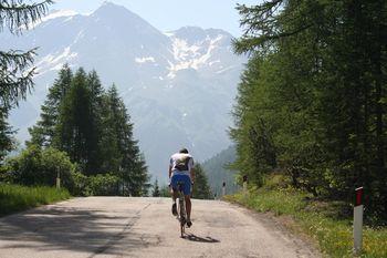 an dieser Stelle ist man fast oben, es geht die letzten 3 km sehr moderat zu.