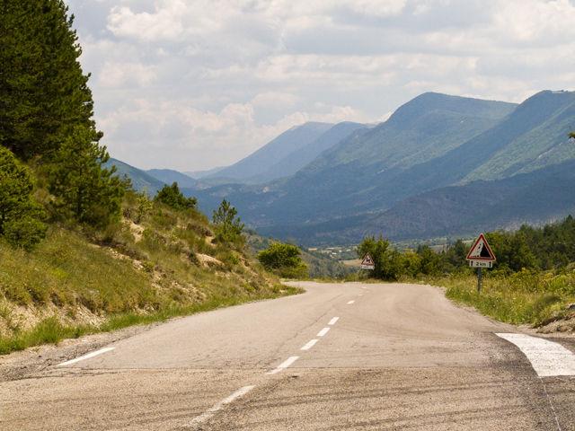 Das Jabron Tal westlich des Passes
