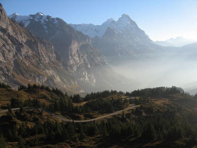 Blick zurück auf den Eiger