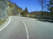 Die letzte Rampe vor der Passh�he des Passo della Scoglina. (Februar 2008)