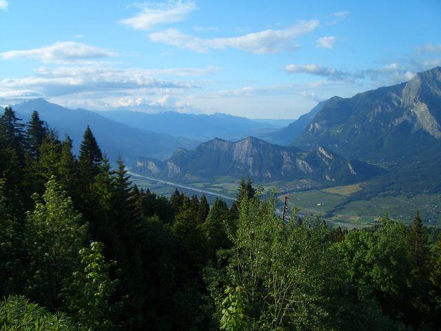 Rheintal mit Luzisteig