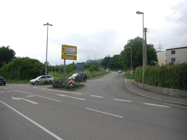 Startpunkt der Auffahrt nach Aichelberg in Beutelsbach.