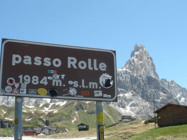 Passschild mit Cimon della Pala.