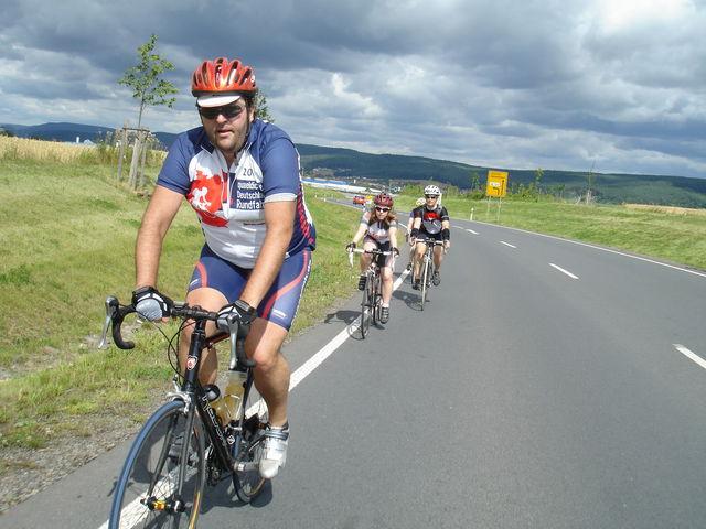 Marc, Manu und Christian bei der 2. quaeldich.de-dopingfrei-Tour Thüringen 2009.