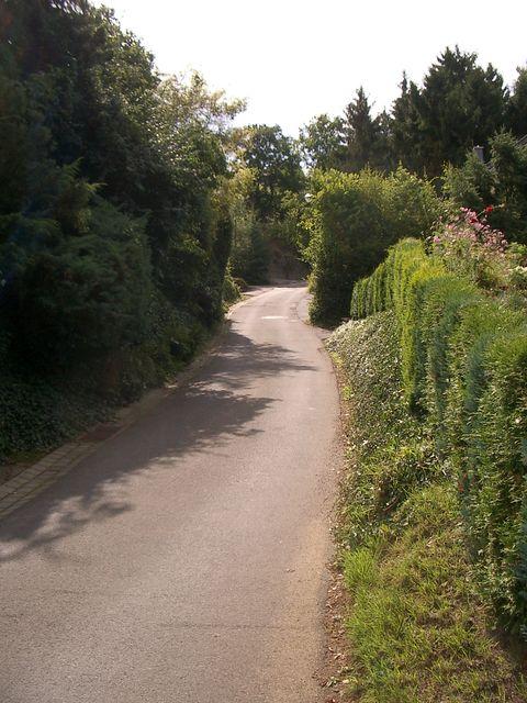 Alternativroute: Die steile Rampe in der Bergstraße.