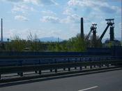 Die Lysa Hora von Ostrava aus. Der Stadt wo man mit dem Rad auch auf Autobahnen fahren darf.