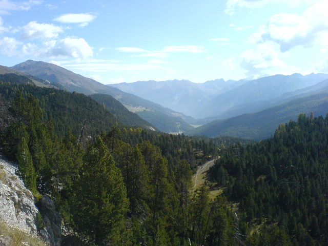Blick vom Ofenpass ins Val Müstair