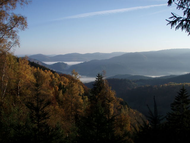 Traumhafter Herbstblick vom Büchereck in Richtung Kinzigtal.