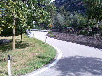 Beginn des Anstieges in Bolognano