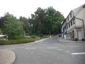 An dieser Kreuzung in Elgersburg beginnt die Auffahrt zur Hohen Warte.