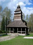 Eine alte Holzkirche unweit von Trojanovice im typisch walachischen Stil.