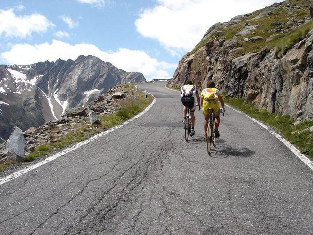 in den letzten drei steilem Rampen oberhalb des Lago Nero